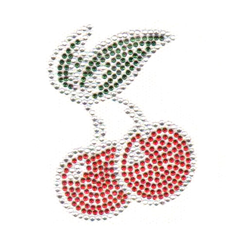 S3748- CHERRY RED/GREEN STUD CRYSTAL STONE