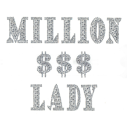 S3826-MILLION $$$ ( DOLLAR )LADY, PHRASE(8-7)