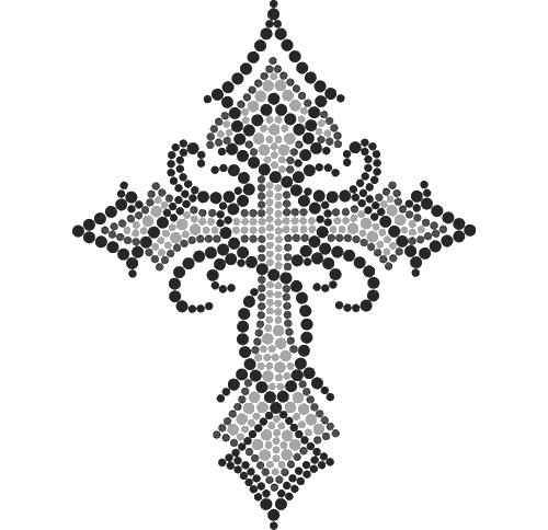 "S3899A5 - 5"" Tribal Clear Cross"