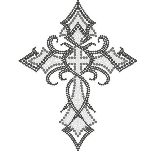 "S3899A7 - 7"" Tribal Clear Cross"