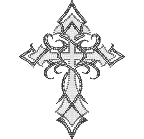 "S3899A9 - 9"" Tribal Clear Cross"