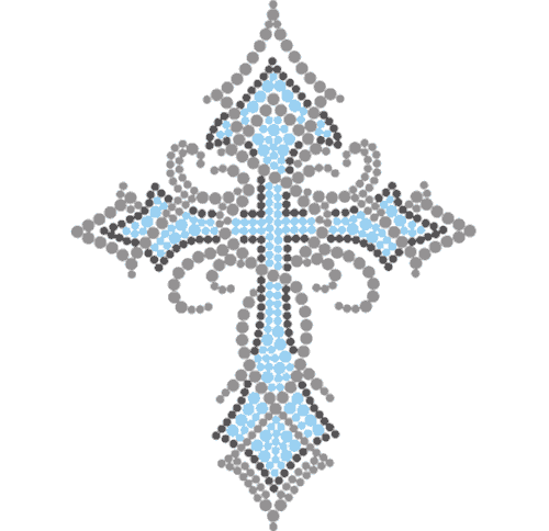 "S3899B5 - 5"" Tribal Blue Cross"