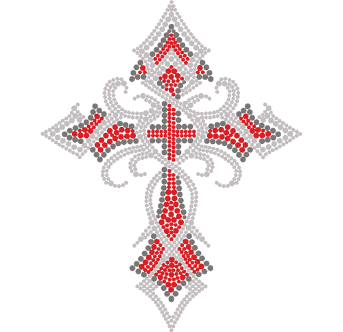 "S3899C7 - 7"" Tribal Red Cross"