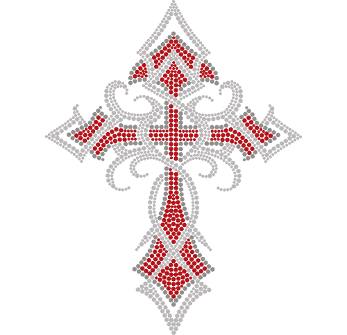 "S3899C9 - 9"" Tribal Red Cross"