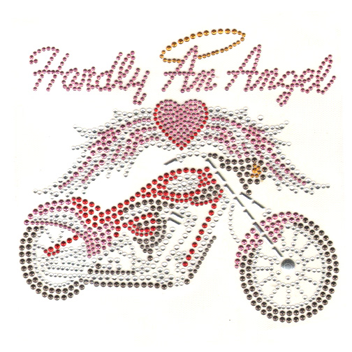 S3938LAR-HARDLY AN ANGEL W/MOTORCYCLE, BIKERS, PHRASES