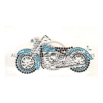 S4131BLUE-SMALL BLUE MOTORCYCLE, MOTORCYCLES, BIKER