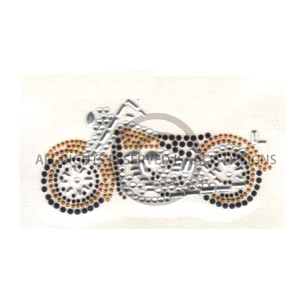 S4131GLD-SMALL GOLD MOTORCYCLE, MOTORCYLES, BIKER