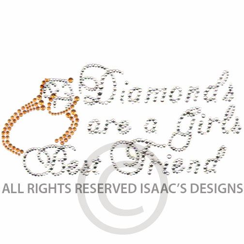 S4207- DIAMONDS ARE A GIRL'S BEST FRIEND, PHRASE, PHRASES, WORD,