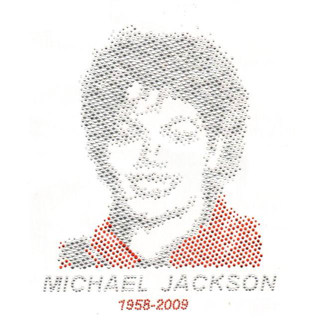 S4587-MICHAEL JACKSON TIME COVER CRYSTAL & SIAM STONE