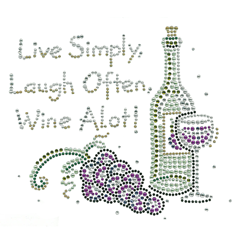 S4590 - Live Simply, Laugh Often, Wine A Lot!