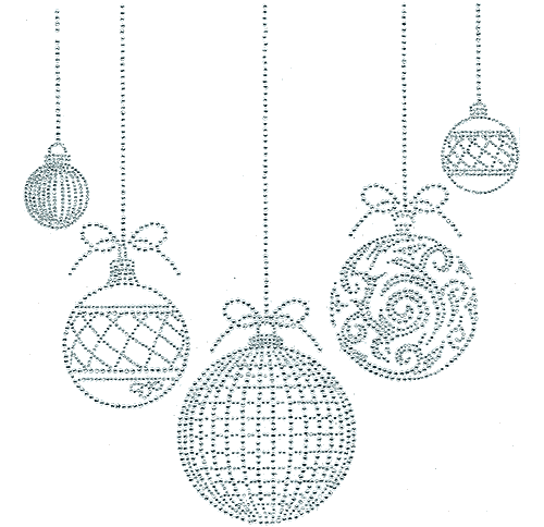 S4686-CLR<br>All-Clear Xmas Ornaments Neckline