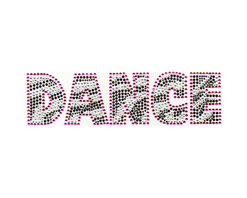 S4942-FUC  -  DANCE WITH ZEBRA PRINT, DANCER, PHRASES