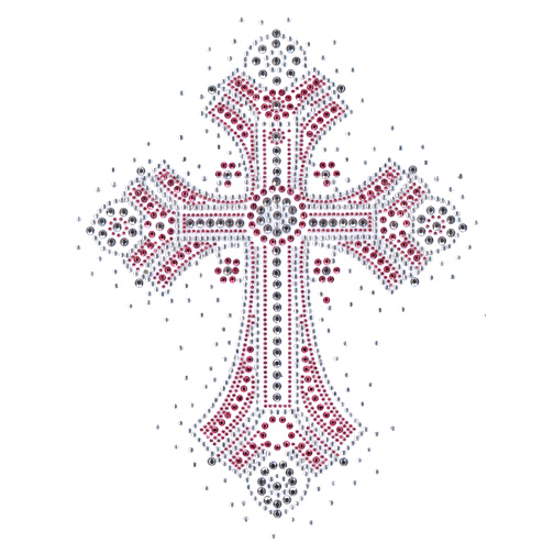 S4972pink Pink Cross Symbol Symbols Religion Isaacs