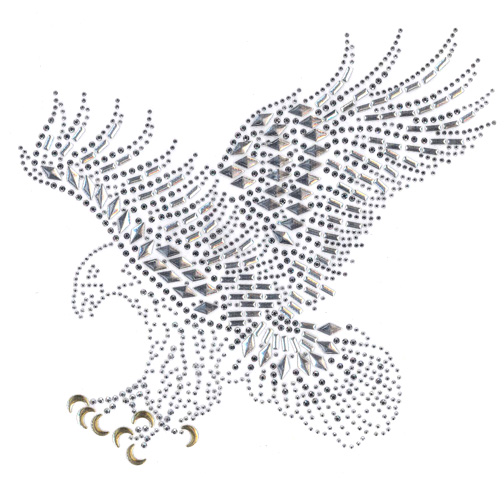 S4974-SILVER EAGLE, ANIMALS, BIRDS, BIKERS