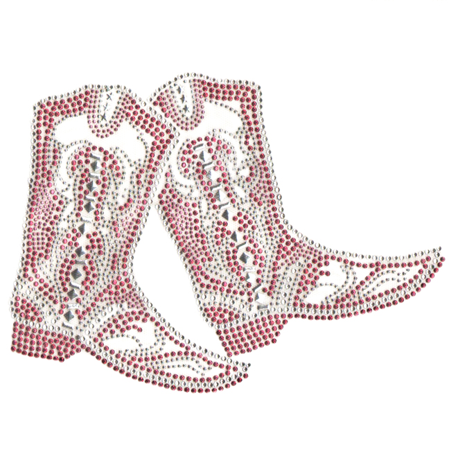 S4988PINK-COWBOY BOOTS PINK, BOOT, WESTERN