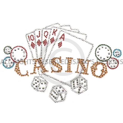 S4997- CASINO W/ CARDS AND DICE, GAMES, HOBBIES, PHRASES