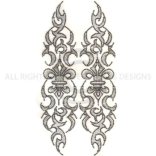 S4998-BDI<br>BLACK, CLEAR AND GRAY FLEUR DE LIS SLEEVE PCS, DESI