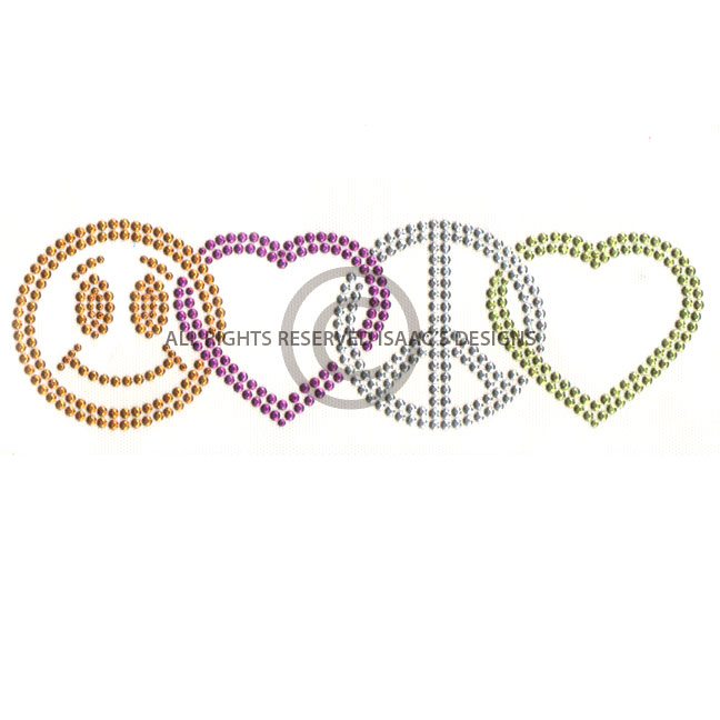 S5030 Smiley Face Heart And Peace Kids Symbols Isaacs Designs