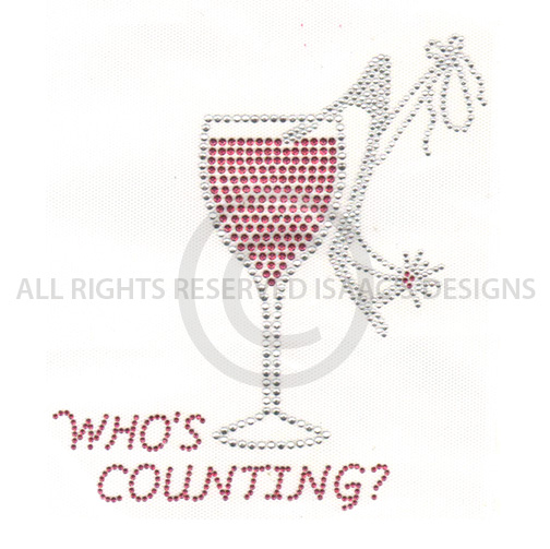 S5077- WHO'S COUNTING WITH WINE AND HIGH HEAL, DRINKS, PHRASES
