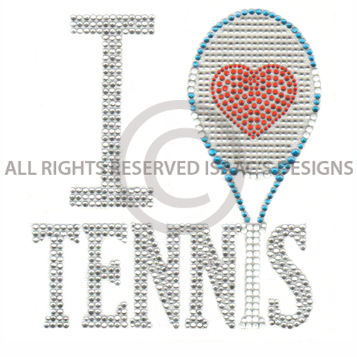 S5255- I HEART TENNIS, SPORT, SPORTS, HOBBIES