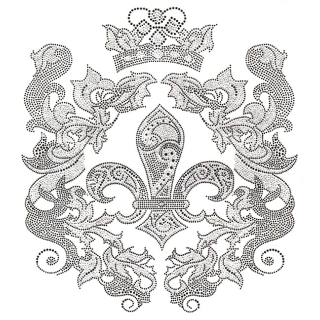 S5278- FLEUR DE LIS WITH CROWN, CROWNS, DESIGNER LOOKS, SYMBOL,