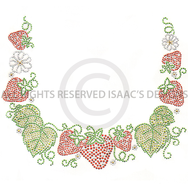 S5426-SQUARE<BR>Strawberry Square neckline