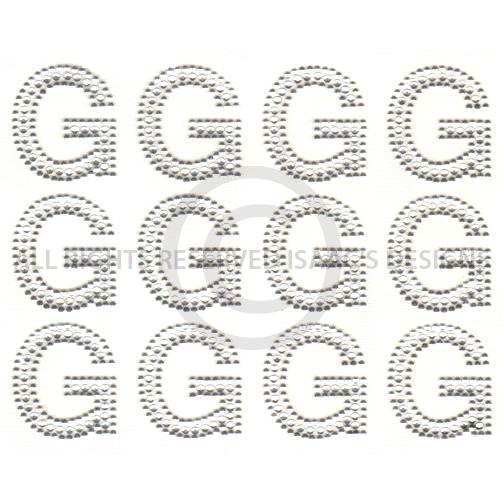 S6514 G BLOCK ALPHABET LETTER LETTERS