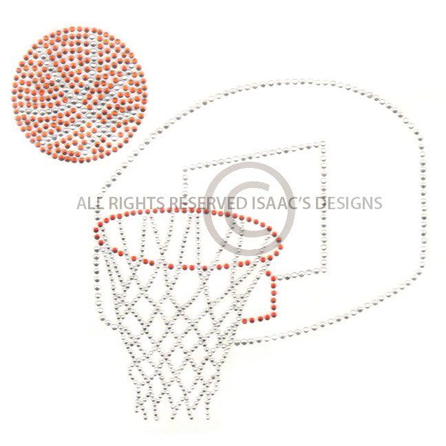 S6648- BASKETBALL AND HOOP, SPORTS