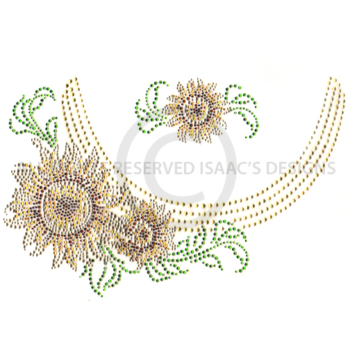 S6837  Sunflower Scoop Neckline with Accent pcs