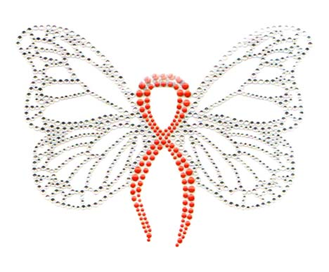 S7189-OEG   -  ORANGE RIBBON BUTTERFLY