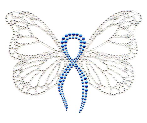 S7189-ROYAL  -  ROYAL BLUE RIBBON BUTTERFLY