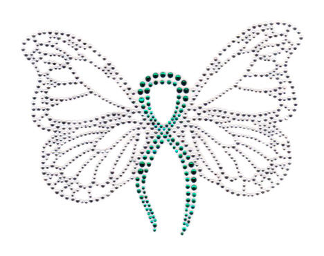 S7189-TEAL  -  TEAL RIBBON BUTTERFLY