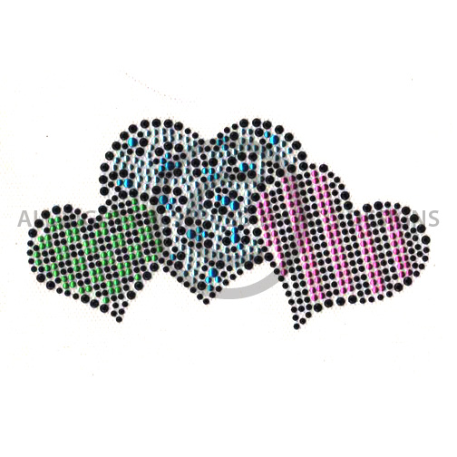 S7496- LEOPARD, CHECKERS AND STRIPED HEARTS. KIDS. CHILDREN