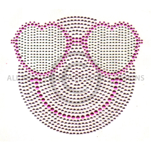 S7497- PINK SMILEY FACE WITH HEART SUNGLASSES, KIDS, CHILDREN