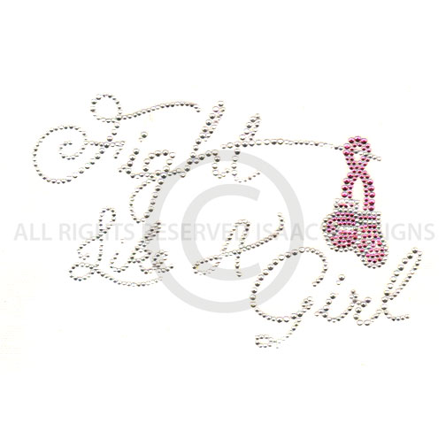 S7635- FIGHT LIKE A GIRL WITH PINK RIBBON AND BOXING GLOVES
