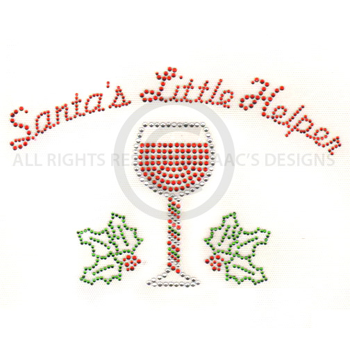 S7693- SANTA'S LITTLE HELPER WITH WINE, CHRISTMAS, HOLIDAYS