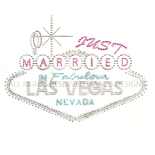 S8123-JUST MARRIED IN FABULOUS LAS VEGAS, BRIDAL, PHRASES