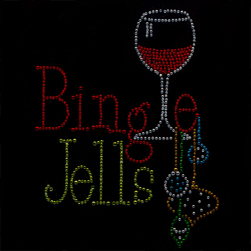 S8261-BINGLE JELLS W/WINE GLASS AND BELLS, DRINKS, PHRASES