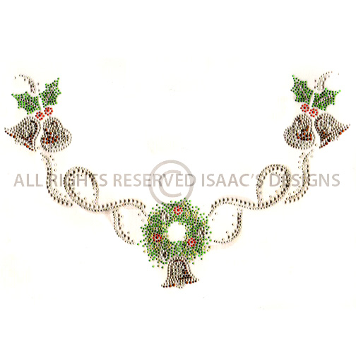 S8301<br>Holiday Bells & Wreath Scoop-Neckline