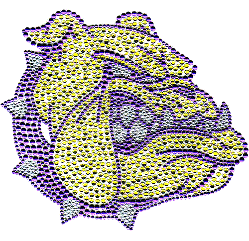 S8736-PUR - Mad Bulldog Mascot with Purple Collar