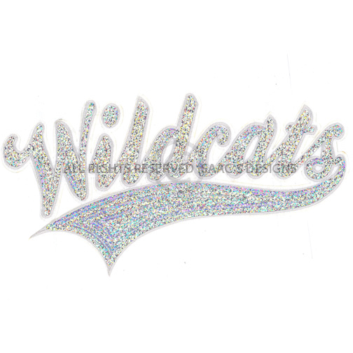 S8741-WILDCATS, SEQUINS, MASCOT NAMES, SPORTS