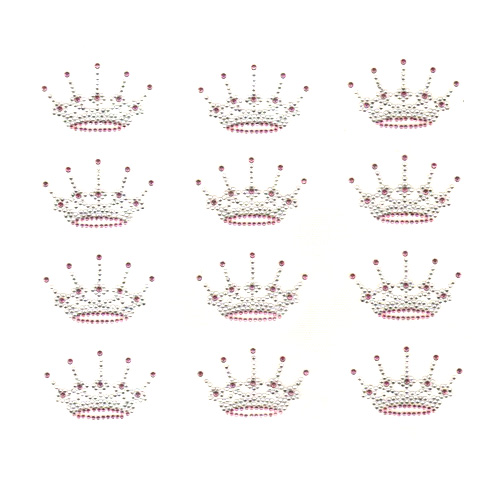 S9001 - SMALL CROWN - LT. PINK SOLD BY SHEET 12PCS