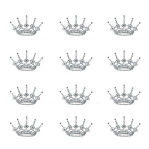 S9002-SMALL CROWN CRYSTAL SOLD BY SHEET 12PCS