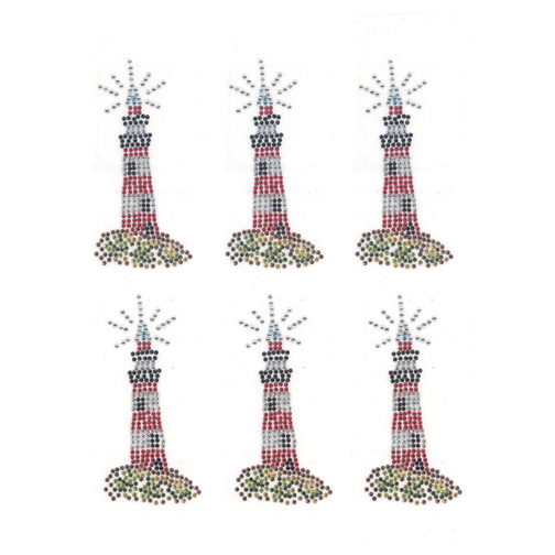 S9032- LIGHTHOUSE SMALL, SOLD BY SHEET 6PCS
