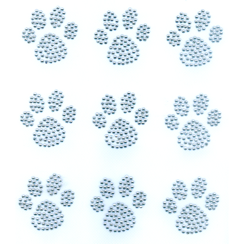 S9061 - CLEAR DOG PAW, DOGS, SOLD BY SHEET 9PCS