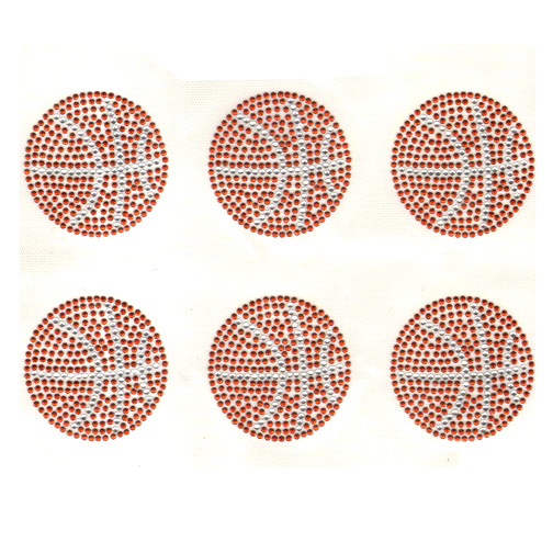 S9116- BASKTBALL, SPORTS, SOLD BY SHEET 6PCS