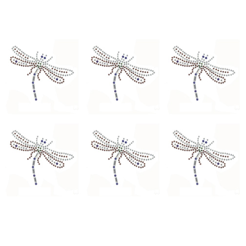 S9124-DRAGONFLY,BUGS,INSECTS, SOLD BY SHEET 6PCS
