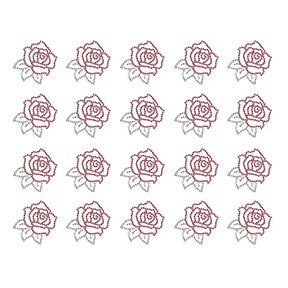 S9190-PINK  -  PINK AND CLEAR ROSES, SOLD BY PAGES