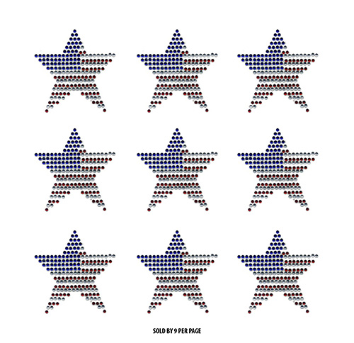 S9191-USA - American Star - 9 per Sheet (/)