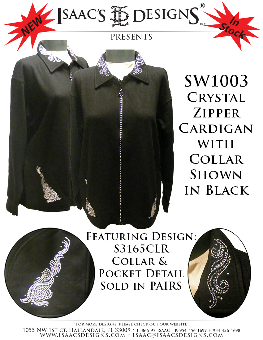 SW1003 Collared Cardigan in BLACK IDEA